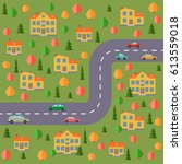 plan of village. landscape with ... | Shutterstock .eps vector #613559018