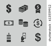 income icons set. set of 9... | Shutterstock .eps vector #613559912