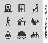 adult icons set. set of 9 adult ... | Shutterstock .eps vector #613560542