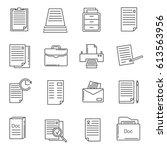 set of documentation related... | Shutterstock .eps vector #613563956