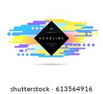abstract geometric composition... | Shutterstock .eps vector #613564916