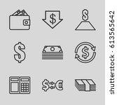 exchange icons set. set of 9... | Shutterstock .eps vector #613565642