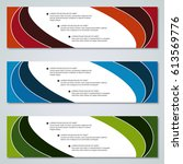 modern colorful vector banners... | Shutterstock .eps vector #613569776