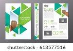business brochure or flyer... | Shutterstock .eps vector #613577516