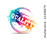 modern mosaic colorful quality... | Shutterstock .eps vector #61358479
