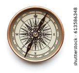 Vintage compass isolated on...