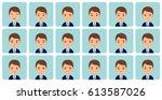 avatars emotions. male face...   Shutterstock .eps vector #613587026
