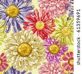 seamless pattern with asters... | Shutterstock .eps vector #61359691