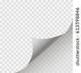 page curl with shadow on blank... | Shutterstock .eps vector #613598846