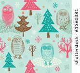 winter christmas forest with... | Shutterstock .eps vector #61360381
