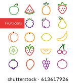 vector illustration. set of... | Shutterstock .eps vector #613617926