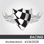 racing sign | Shutterstock .eps vector #61362028