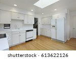 kitchen in suburban home with... | Shutterstock . vector #613622126