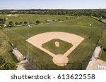 aerial view of a baseball...   Shutterstock . vector #613622558