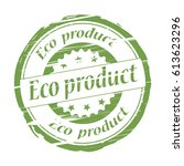 eco product rubber stamp on... | Shutterstock . vector #613623296
