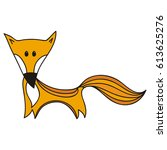cute fox. vector illustration. | Shutterstock .eps vector #613625276