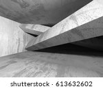 abstract geometric concrete... | Shutterstock . vector #613632602