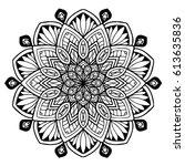 mandalas for coloring book.... | Shutterstock .eps vector #613635836