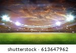stadium in lights and flashes... | Shutterstock . vector #613647962