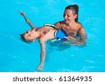 mother and son have fun... | Shutterstock . vector #61364935