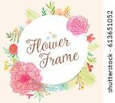 round flower frame | Shutterstock .eps vector #613651052