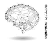 concept of active human brain... | Shutterstock .eps vector #613660658