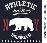 new york  typography fashion... | Shutterstock .eps vector #613681682