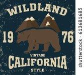 california vintage style... | Shutterstock .eps vector #613681685
