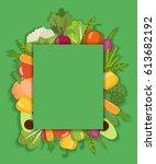 vector vegetable background....   Shutterstock .eps vector #613682192