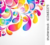 abstract colorful arc drop...   Shutterstock . vector #613682375