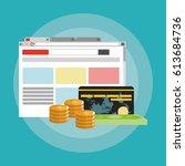 online shopping or e commerce... | Shutterstock .eps vector #613684736