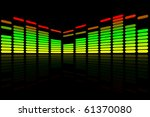 colorful audio equalizer.... | Shutterstock .eps vector #61370080