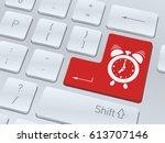 design of white computer... | Shutterstock .eps vector #613707146