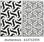 vector monochrome seamless... | Shutterstock .eps vector #613712555