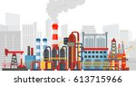 plant factory on the city... | Shutterstock . vector #613715966