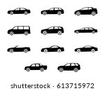 different types of the cars.... | Shutterstock .eps vector #613715972