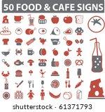 50 food   cafe signs. raster