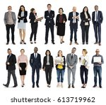 diversity business people set... | Shutterstock . vector #613719962