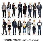 diversity business people set... | Shutterstock . vector #613719962