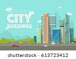 buildings city vector... | Shutterstock .eps vector #613723412