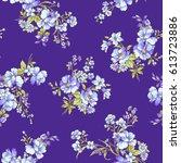 flower pattern illustration | Shutterstock .eps vector #613723886