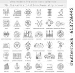 genetics and biochemistry... | Shutterstock . vector #613726442