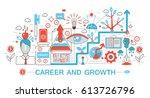 modern flat thin line design... | Shutterstock . vector #613726796