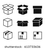 box icon set vector | Shutterstock .eps vector #613733636