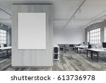 front view of an office with a... | Shutterstock . vector #613736978