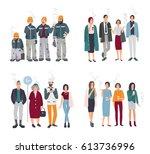 set of smoking room. different... | Shutterstock .eps vector #613736996