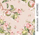 watercolor seamless pattern of... | Shutterstock . vector #613744082