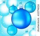 Various Blue Christmas Glass...