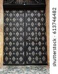 ancient wooden gates and doors  ...   Shutterstock . vector #613746482