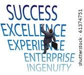 a business man makes progress... | Shutterstock . vector #61374751